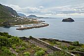 View at Garachico and its port, Tenerife, Canary Islands, Islas Canarias, Atlantic Ocean, Spain, Europe