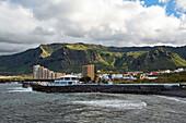 Puertito de los Silos with coast and mountains, Tenerife, Canary Islands, Islas Canarias, Atlantic Ocean, Spain, Europe