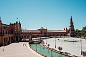 Spanish Palace exterior, Sevilla, Andalusia, Spain