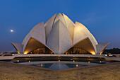 Bahai House of Worship known as the The Lotus Temple, New Delhi, Delhi, India, Asia