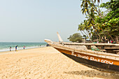 Local fishing boats on Bukeh Beach, Sierra Leone, West Africa, Africa