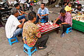 Men selling rings on the streets of Yogyakarta, Java, Indonesia, Southeast Asia, Asia