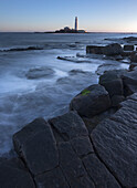 St. Marys Lighthouse on St. Marys Island at Whitley Bay, North Tyneside, England, United Kingdom, Europe
