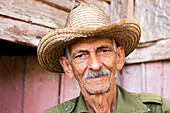 Cuban tobacco farmer in the Vinales Valley, Cuba, West Indies, Caribbean, Central America