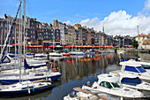 The Vieux Bassin, Old Harbour, St. Catherine's Quay, Honfleur, Calvados, Basse Normandie (Normandy), France, Europe