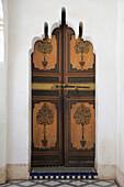 Ornate Door, Bahia Palace, UNESCO World Heritage Site, Marrakesh (Marrakech), Morocco, North Africa, Africa