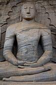 Sitting Buddha, Gal Vihara at Polonnaruwa, UNESCO World Heritage Site, Sri Lanka, Asia