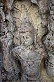 Carving of Buddha at the ancient city of Polonnaruwa, UNESCO World Heritage Site, Sri Lanka, Asia