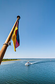 Ferry on the way to Hiddensee island, Mecklenburg-Western Pomerania, Germany