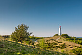 Lighthouse Dornbusch, Hiddensee island, Mecklenburg-Western Pomerania, Germany