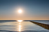 Sundown at the sea, Hiddensee island, Mecklenburg-Western Pomerania, Germany