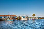 Harbour, Neuendorf, Hiddensee island, Mecklenburg-Western Pomerania, Germany