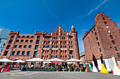 Brick building, harbour, Stralsund, Mecklenburg-Western Pomerania, Germany