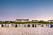Beach and Hotel Ahlbecker Hof, Ahlbeck, Usedom island, Mecklenburg-Western Pomerania, Germany