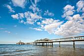 Pier, Heringsdorf, Usedom island, Mecklenburg-Western Pomerania, Germany