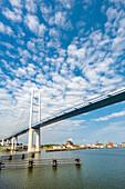 Rügenbridge from Stralsund to Rügen, Mecklenburg-Western Pomerania, Germany