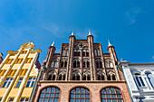 Brick building, Wulflamhaus, Stralsund, Mecklenburg-Western Pomerania, Germany