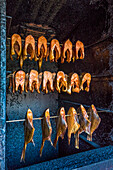 Smoked fish, Usedom island, Mecklenburg-Western Pomerania, Germany