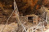 abandoned stable, Barranquillo del Calvario, near Santo Domingo de Garafia, UNESCO Biosphere Reserve, La Palma, Canary Islands, Spain, Europe
