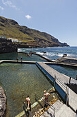 seawater swimming pools, La Fajana, near Barlovento, north coast, Atlantic, UNESCO Biosphere Reserve, La Palma, Canary Islands, Spain, Europe