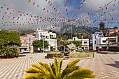 main square, San Pedro, near Brena Alta, UNESCO Biosphere Reserve, La Palma, Canary Islands, Spain, Europe