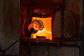 glass manufacture, Artefuego, Dominic Kessler (and Wladyslaw Godz), Llano de Argual, Los Llanos de Aridane,UNESCO Biosphere Reserve, La Palma, Canary Islands, Spain, Europe