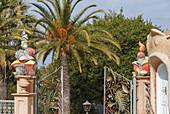 entrance, El Jardin de las Delicias, Parque Botanico, town parc, designed by the artist Luis Morera, Los Llanos de Aridane, UNESCO Biosphere Reserve, La Palma, Canary Islands, Spain, Europe