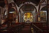 interior view, Iglesia Nuestra Senora de Los Remedios, church, Los Llanos de Aridane, UNESCO Biosphere Reserve, La Palma, Canary Islands, Spain, Europe