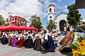 folk dance, traditional costumes, festival on the day of the Canary Island, folk group, springtime, Los Sauces, San Andres y Sauces, UNESCO Biosphere Reserve, La Palma, Canary Islands, Spain, Europe