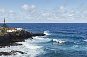 house at the coastline, Atlantic, San Andres, village, San Andres y Sauces, UNESCO Biosphere Reserve, La Palma, Canary Islands, Spain, Europe
