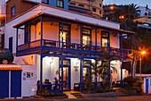 Meson del Mar, restaurant, Puerto Espindola, fishing port, San Andres, San Andres y Sauces, UNESCO Biosphere Reserve, La Palma, Canary Islands, Spain, Europe