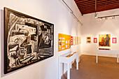 Art exhibition, Carmen Arozena, Museo Insular, island museum, Convento de San Francisco de Asis, former Franziscan monestary , Santa Cruz de La Palma, capital of the island, UNESCO Biosphere Reserve, La Palma, Canary Islands, Spain, Europe