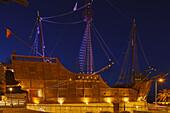 Museo Naval, Columbus ship in architecture, Maritime Museum, Plaza de la Alameda, sauare, Santa Cruz de La Palma, capital of the island, UNESCO Biosphere Reserve, La Palma, Canary Islands, Spain, Europe