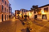 Placeta de Borrero, square, pedestrian zone, Santa Cruz de La Palma, capital of the island, UNESCO Biosphere Reserve, La Palma, Canary Islands, Spain, Europe
