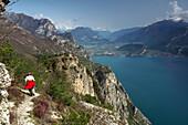 Wandern bei Pregasina über Riva, Westufer, Nördlicher Gardasee, Trentino, Italien