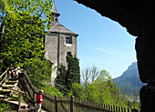 At the castle Thierberg over Kufstein, Tyrol, Austria