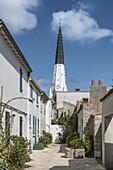 Ars-en-Re, Saint-Martin-de Re, Kirchturm, Ile de Re, Nouvelle-Aquitaine, franzoesische Westkueste, Frankreich