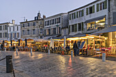 Restaurants, Port La Flotte, Ile de Re, Nouvelle-Aquitaine, french westcoast, france