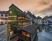 La Petite France, Au Pont St. Martin Restaurant, Strasbourg, Strassburg,  France