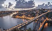 Dom Luis I Bridge over the River Douro, Porto, Portugal