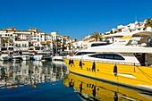 Marina Puerto Banus, Marbella. Malaga province Costa del Sol. Andalusia Southern Spain, Europe.