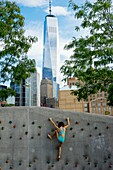 Children's Playground. Pier 25. Hudson River Park. New York city. Manhattan. New York. USA.