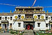 Lavrang temple in Tibetean style, Erdene Zuu monastery, Kharkhorin, Övörkhangai Aimag, Mongolia.
