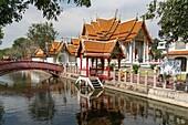 Wat Benchamabophit Dusitvanaram the marble temple, Bangkok, Thailand, Asia.