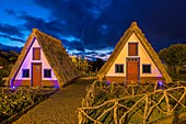 Traditional Madeirense home at Santana, Madeira, Portugal.