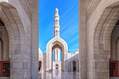 Sultan Qaboos Grand Mosque, Muscat, Oman, Middle East, Asia.