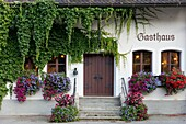 Front entry to Gasthaus, Schwangau, Germany.