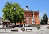Main Market Square with Town Hall, Sandomierz, Poland.