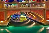 The Venetian Las Vegas Gondolas II - Exterior view to the Gondolas at the Venetian Hotel and Casino in Las Vegas, Nevada.