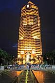 Malaysia, Kuala Lumpur, Public Bank Building, fountain, people,.